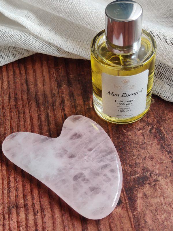Rituel beauté: huile d'argan et guasha