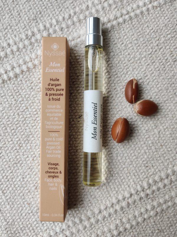 Nyssaé skincare huile d'argan naturelle pure bio véritable